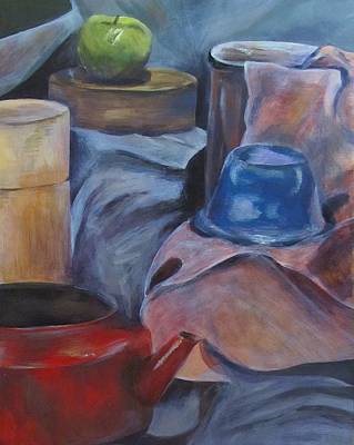 Teapot Painting - Still by Mary Nyiri