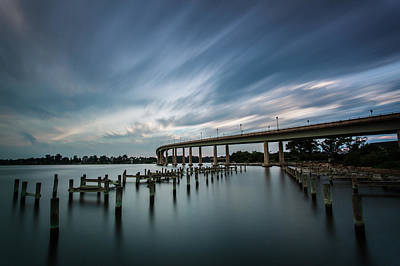 Bridge Pilings Photograph - Still Movement by Jennifer Casey