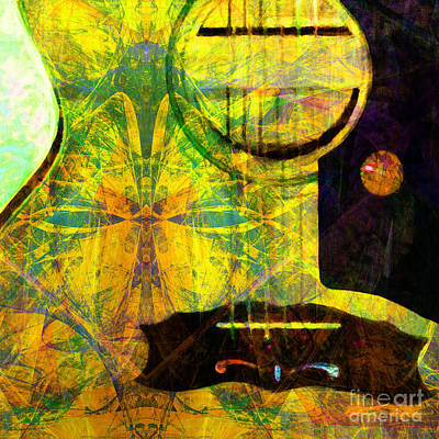 Still My Guitar Gently Weeps 20140715 Square P28 Art Print by Wingsdomain Art and Photography