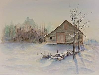 Michael Mcgrath Painting - Still River Barn by Michael McGrath