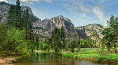 Photograph - Still River In Yosemite National Park by John M Lund Photography Inc