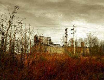 Autumn Scene Photograph - Still Standing Old Grain Elevators Of Buffalo by Gothicrow Images
