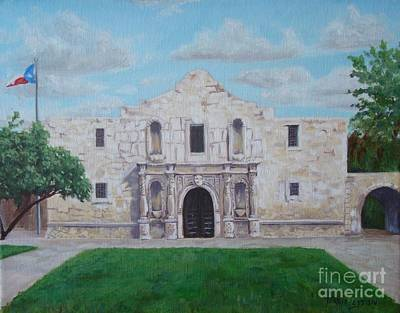 Still Standing Strong - The Alamo Print by Terrie Leyton