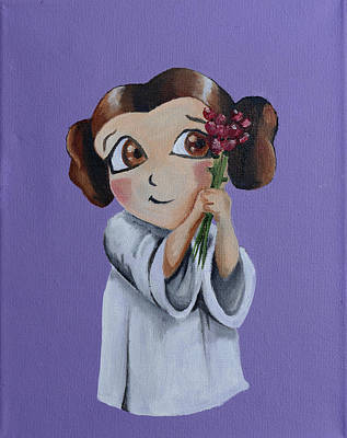 Painting - Still The Princess by Chris  Leon