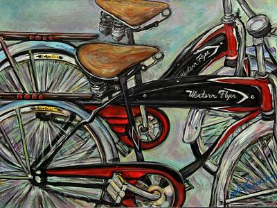 Two Bicycles Painting - Still Together by Susi LaForsch
