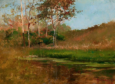 Beautiful Creek Painting - Still Water by Mountain Dreams