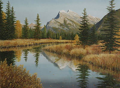 Painting - Still Water Reflections by Jake Vandenbrink