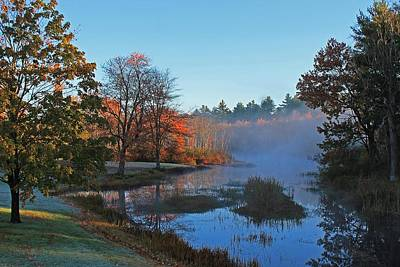 Photograph - Still Water River Sterling Ma by Michael Saunders