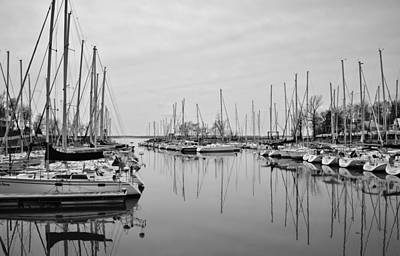 Photograph - Still Waters B/w by Greg Jackson