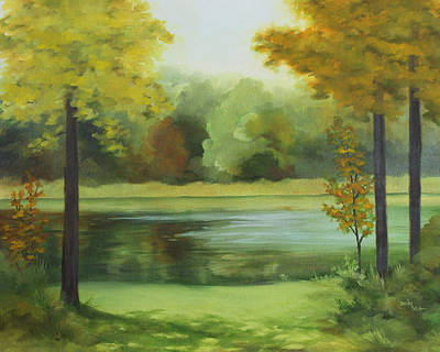 Painting - Autumn Pond by Becky West