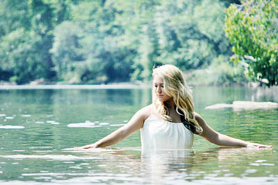 Trash The Dress Photograph - Still Waters by Chastity Hoff