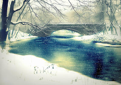 Snowfall Digital Art - Still Waters by Jessica Jenney