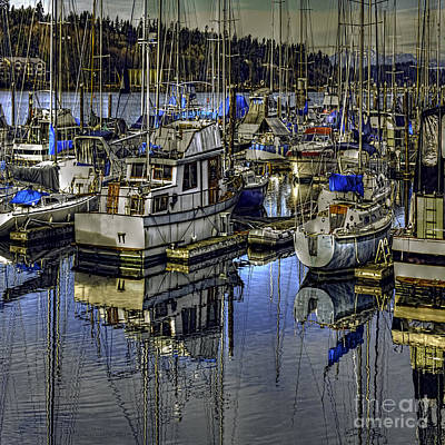 Photograph - Still Water Masts by Jean OKeeffe Macro Abundance Art