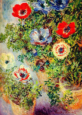 Celestial Painting - Stilll Life With Anemones by Celestial Images