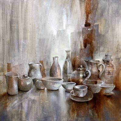 Painting - Stillleben_ by Annette Schmucker
