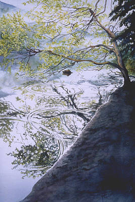Wall Art - Painting - Stillness And Simplicity by Nancy Delgado