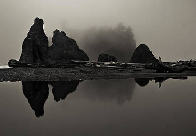 Stillness At Ruby Beach Art Print