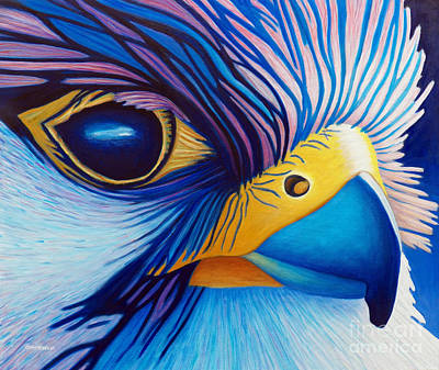 Peregrine Falcon Painting - Stillness by Brian  Commerford