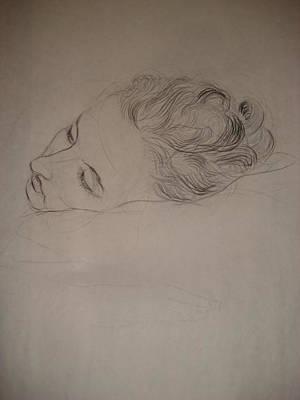 Stillness Drawing - Stillness by Rebecca Poulter