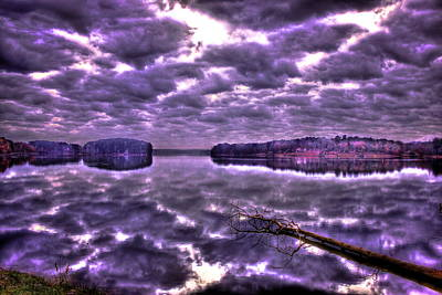 Louis Armstrong - Reflections of Stillness on Lake Oconee by Reid Callaway