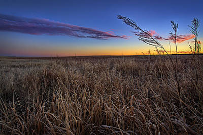 Flint Hills Photograph - Stillness by Thomas Zimmerman