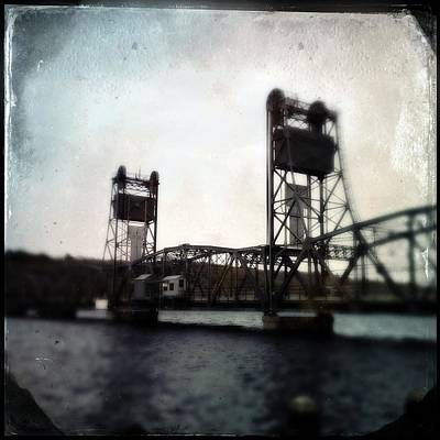 Photograph - Stillwater Lift Bridge Operators House by Tim Nyberg