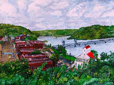 St. Croix Painting - Stillwater Mn by Richard Wandell
