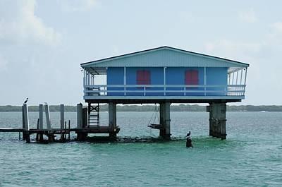 Photograph - Stilt House-blue And Pink by Bradford Martin