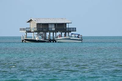 Photograph - Stilt House With Boats by Bradford Martin
