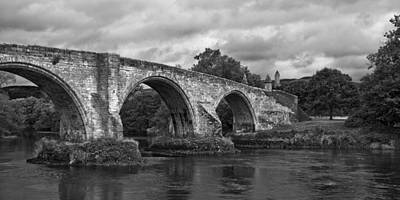 Photograph - Stirling Bridge - Scotland - Black And White by Jane McIlroy