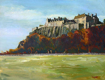 Scotland Painting - Stirling Castle From The Carse by Peter Tarrant