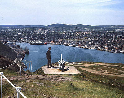Photograph - St.john's From Signal Hill 1966 by George Cousins