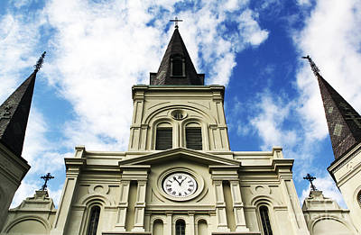 Photograph - St. Louis Cathedral Up Close by John Rizzuto