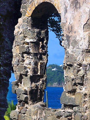 Stlucia - Ruins Art Print by Gregory Dyer