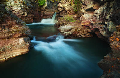 Photograph - St.mary Falls by Stuart Deacon