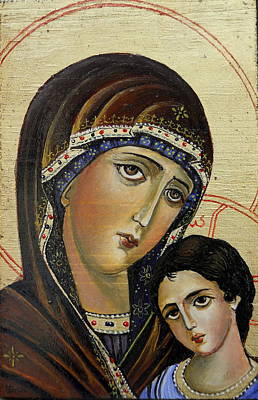 Orthodox Painting - St.mary With  Jessus  by Sorin Apostolescu