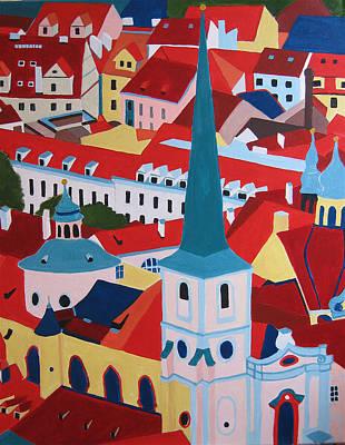 St.nicolas Church Art Print by Toni Silber-Delerive