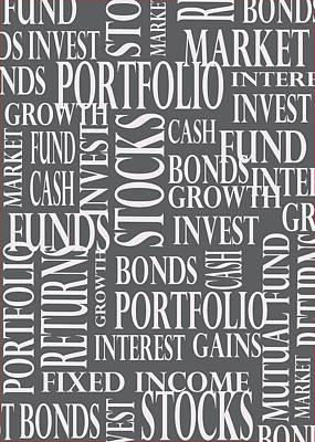 Stock Market Greeting Card Art Print
