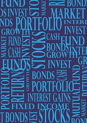 Stock Market Greeting Card I Art Print
