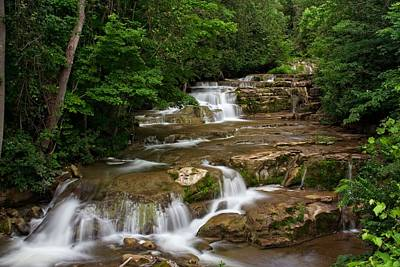 Art Print featuring the photograph Stockbridge Falls by Dave Files