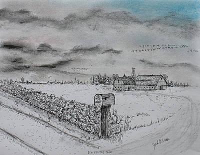 Stockbridge Fence Art Print by Jack G  Brauer