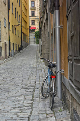 Photograph - Stockholm Alley And Bicycle by Marianne Campolongo