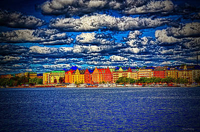Stockholm Experimental Hdr Art Print by Ramon Martinez