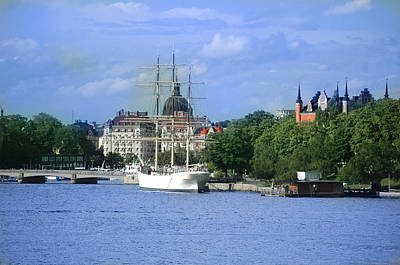Photograph - Stockholm-from-sea by Ali ArtDesign