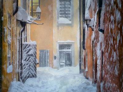 Old Town Digital Art - Stockholm In Winter by Gun Legler