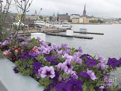 Painting - Stockholm Over Flowers by Vicky Tarcau