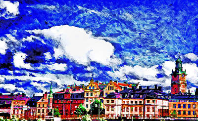 Stockholm Digital Art - Stockholm Painting II by Ramon Martinez