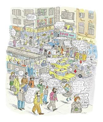 Flyers Drawing - 'stockopolis' by Roz Chast
