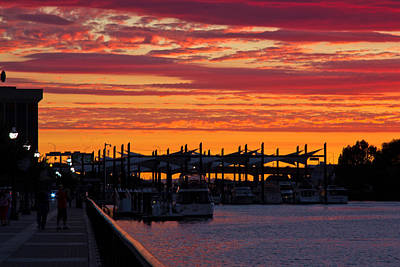 Stockton Sunset Art Print by Randy Bayne