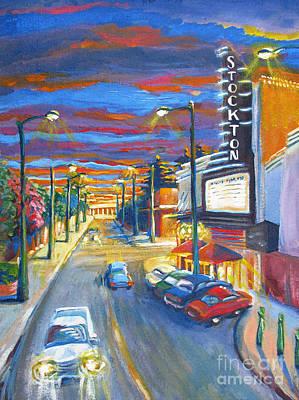 Gaslight Painting - Stockton by Vanessa Hadady BFA MA